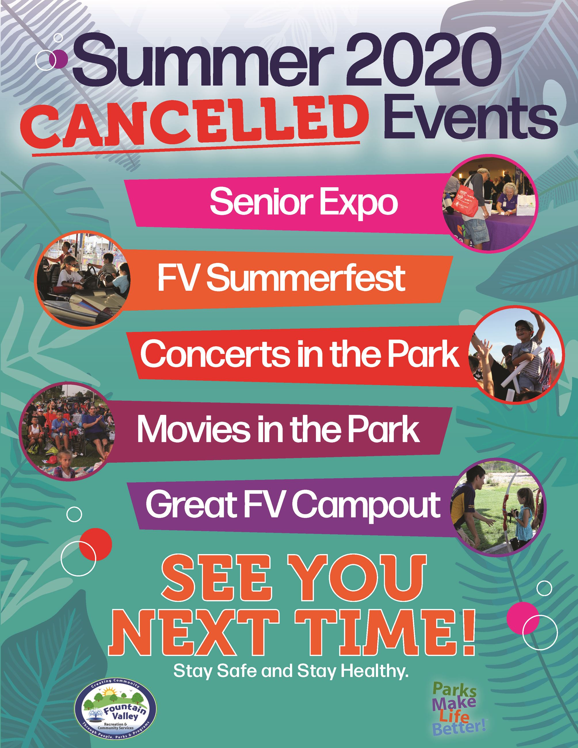 Cancelled Summer Events for 2020