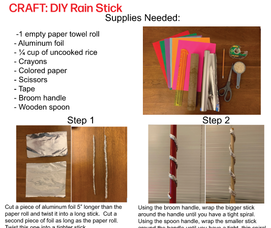 Craft your own Rain stick with FV Fun at Home