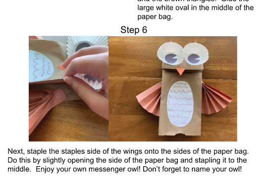 Create a paper bag owl