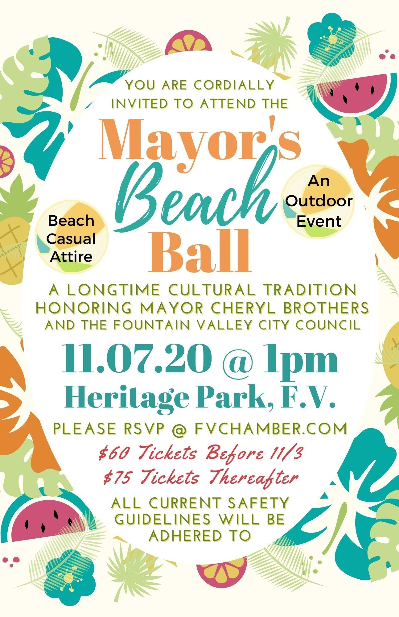 Mayors Beach Balll