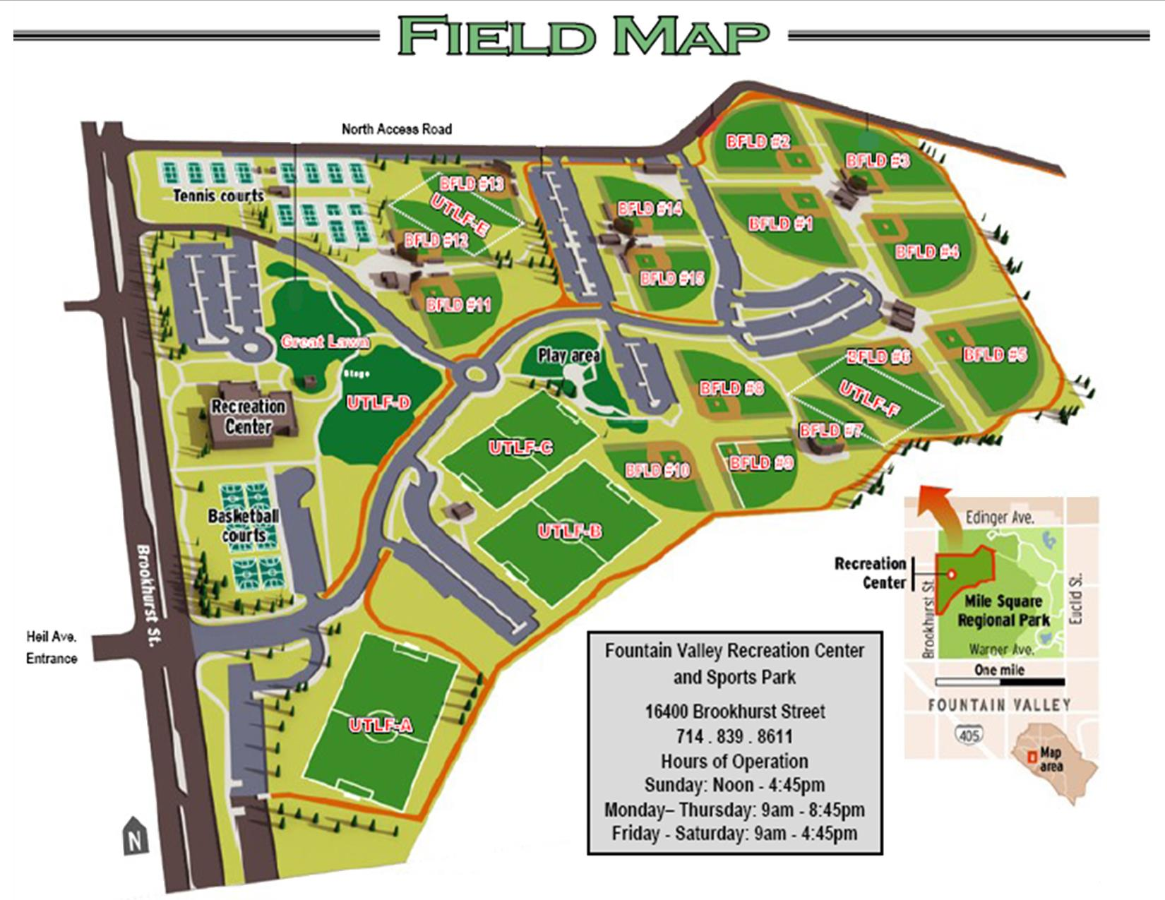 FV Sports Park Field Map