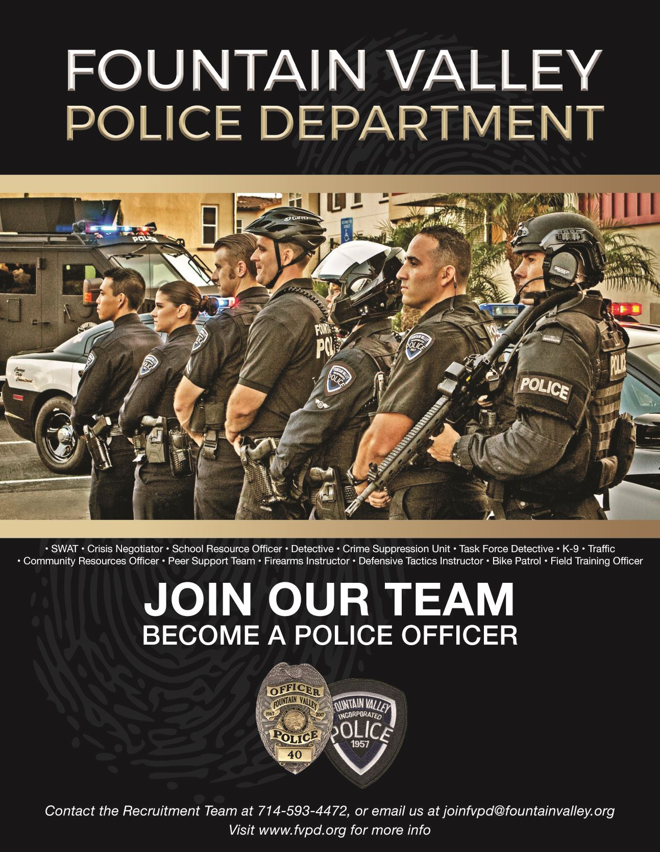 Police Officer Now Hiring Fountain Valley Ca Official Website