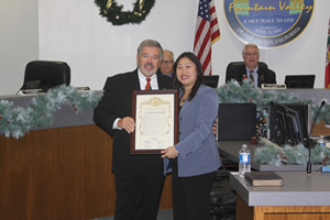 Supervisor Gives Service Recognition