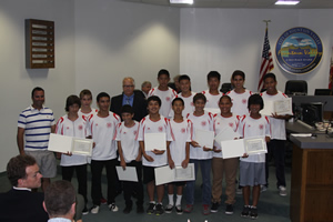 Mayor Honors State Champion Boys Soccer Team